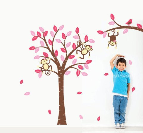 #BC006 Monkey Wall Decal for Baby - Decal dán tường - 1