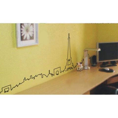 #FH014 Eiffel Tower Building - Decal dán tường - 1