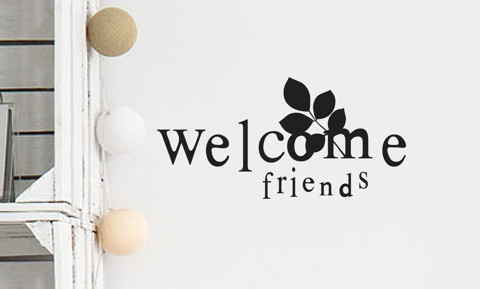#TW022 Welcome - Decal dán tường - 1