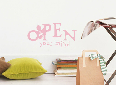 #TW027 Open Your Mind - Decal dán tường - 1