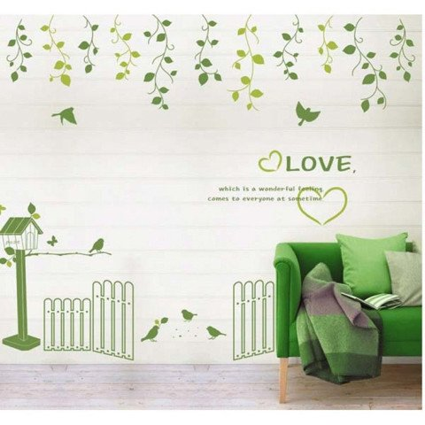 #NG026 Lovely Garden - Decal dán tường - 1