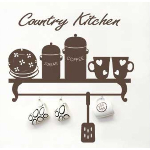 #DK005 Country Kitchen - Decal dán tường - 1