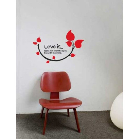 #NG035 Love Is - Decal dán tường - 1