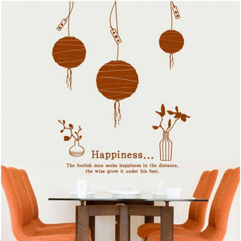 #DL003 Happiness - Decal dán tường - 1