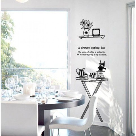 #DF014 A Drowsy Spring Day - Decal dán tường - 1