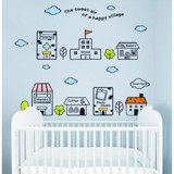 #BC025 Happy Village - Decal dán tường - 3