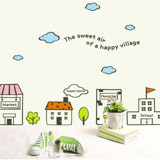 #BC025 Happy Village - Decal dán tường - 5
