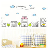 #BC025 Happy Village - Decal dán tường - 6
