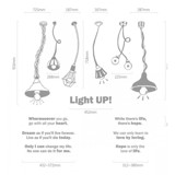 #DL008 Light Up - Decal dán tường - 2