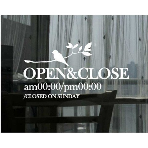 #TO004 Open & Close - Decal dán tường - 1
