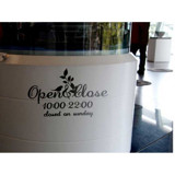#TO004 Open & Close - Decal dán tường - 3