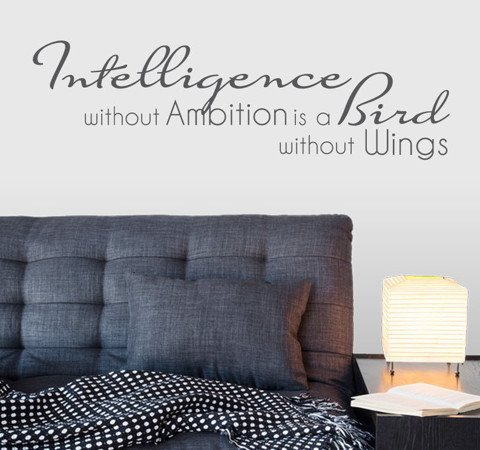 #TW015 Intelligence without Ambition - Decal dán tường - 1