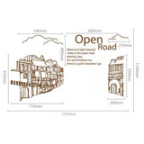 #FH010 Open road - Decal dán tường - 2