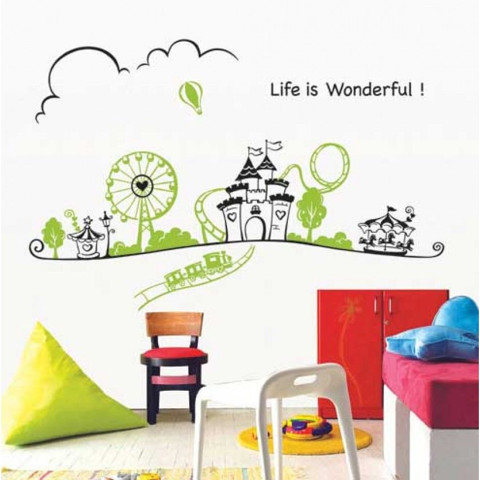 #BC023 Life is wonderful - Decal dán tường - 1