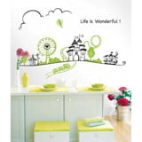 #BC023 Life is wonderful - Decal dán tường - 3