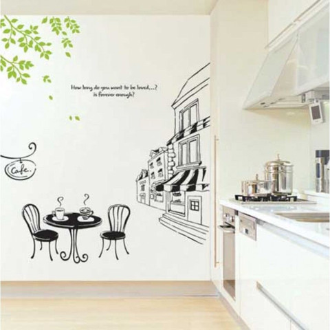 #FH018 Coffee Shop - Decal dán tường - 1