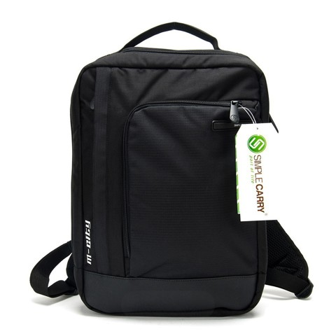 Balo laptop Simplecarry M-city Black