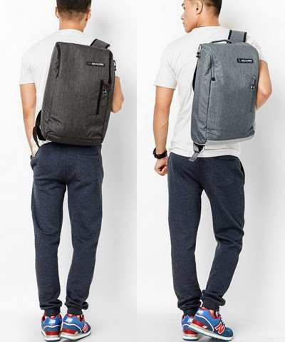 Balo Laptop Simple Carry K3 Dark Grey