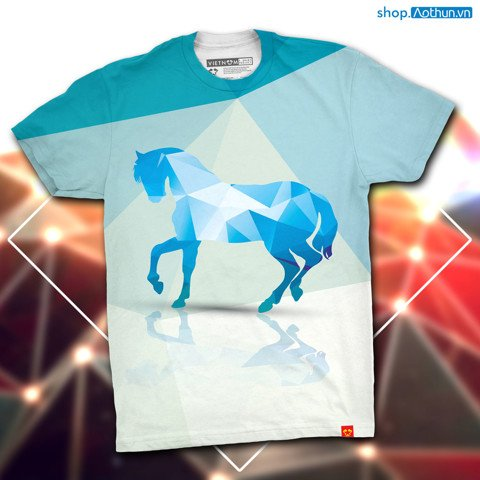 Blue Horse Polygon