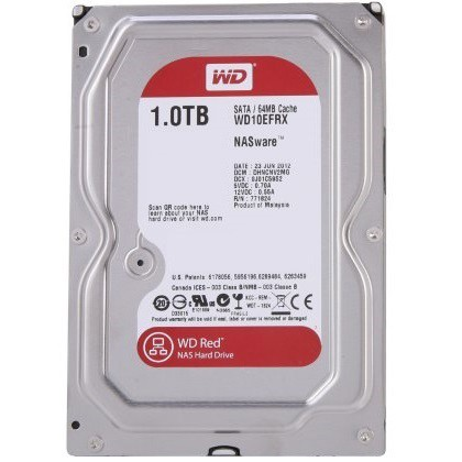 Ổ cứng HDD Western 1TB model WD10EFRX Red