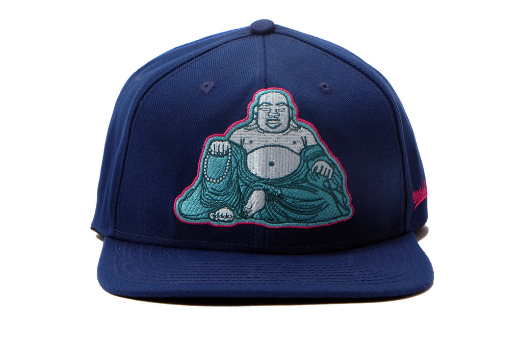 SNAP BACK BUDDHA MITCHELL AND NESS - BLUE