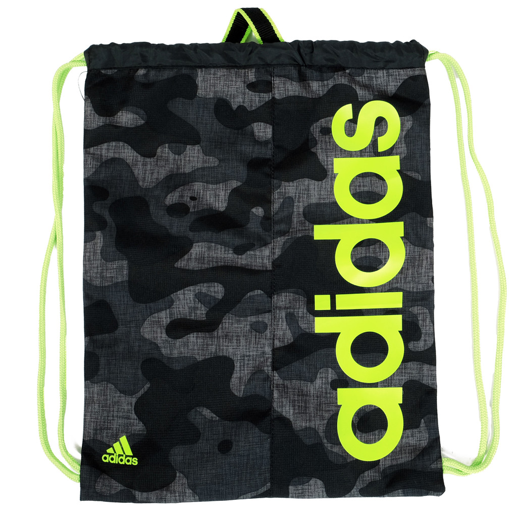 GYM SACK RUNNING ADIDAS - GREY CAMO / NEON LOGO