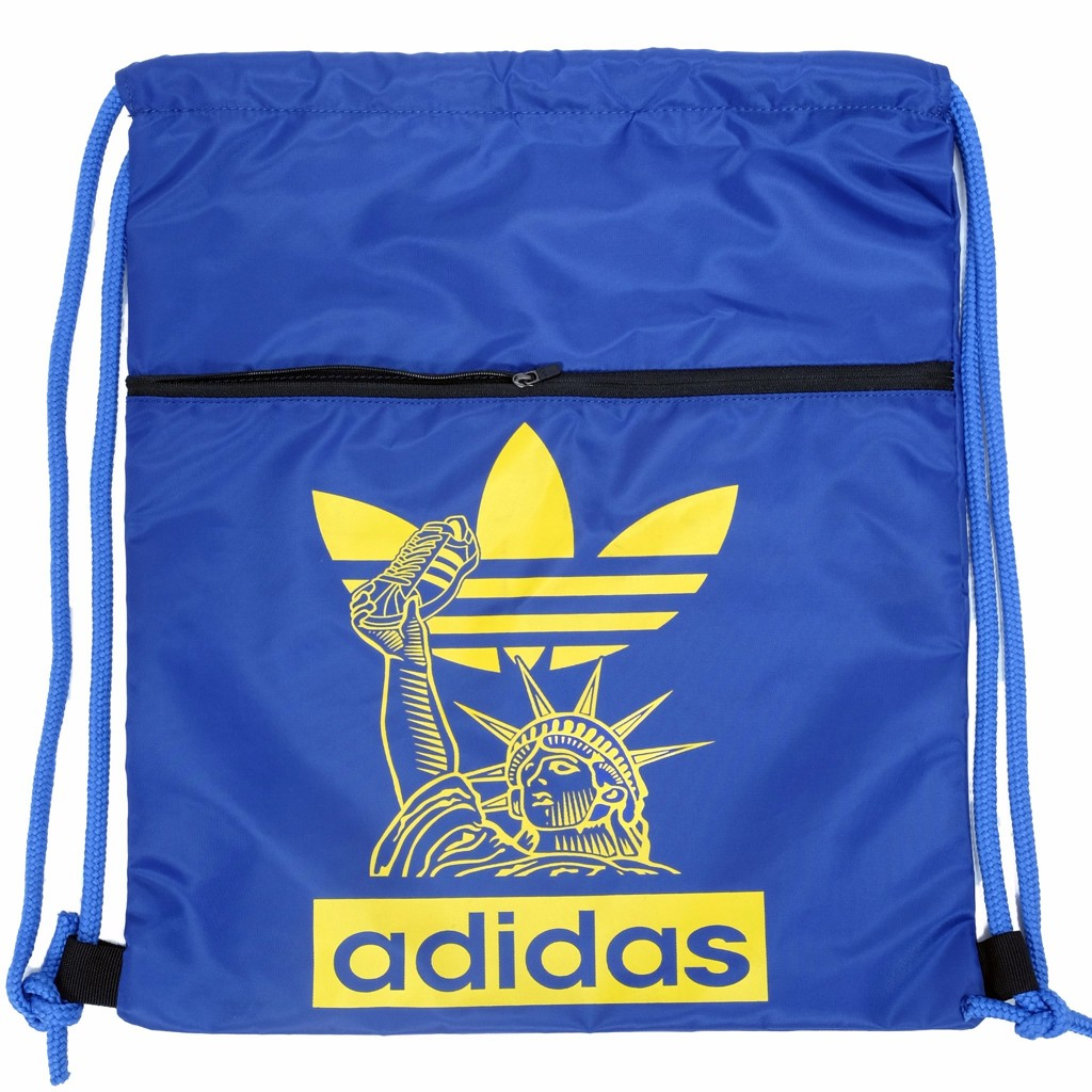 GYM SACK FREEDOM ADIDAS - BLUE / YELLOW LOGO