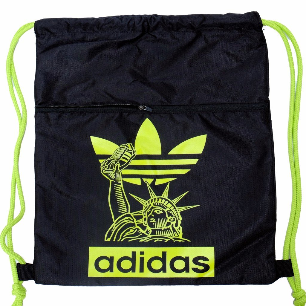 GYM SACK FREEDOM ADIDAS - BLACK / NEON LOGO