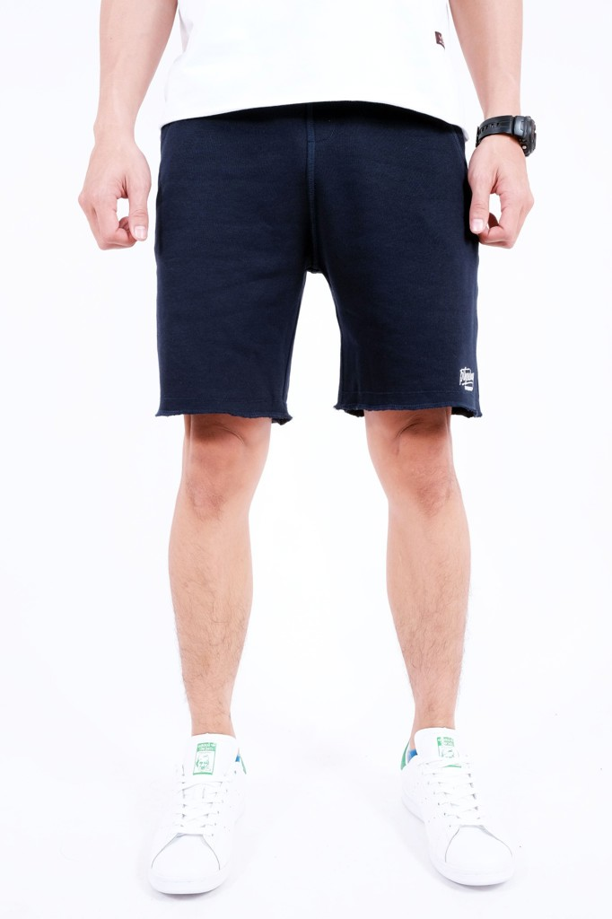 SWEATSHORT PANTS BROTHERHOOD - NAVI