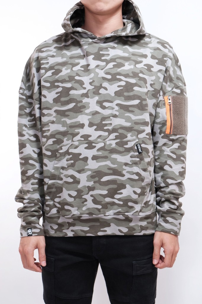 OVERSIZED HOODIE YEAR ONE - CAMO PATTERN