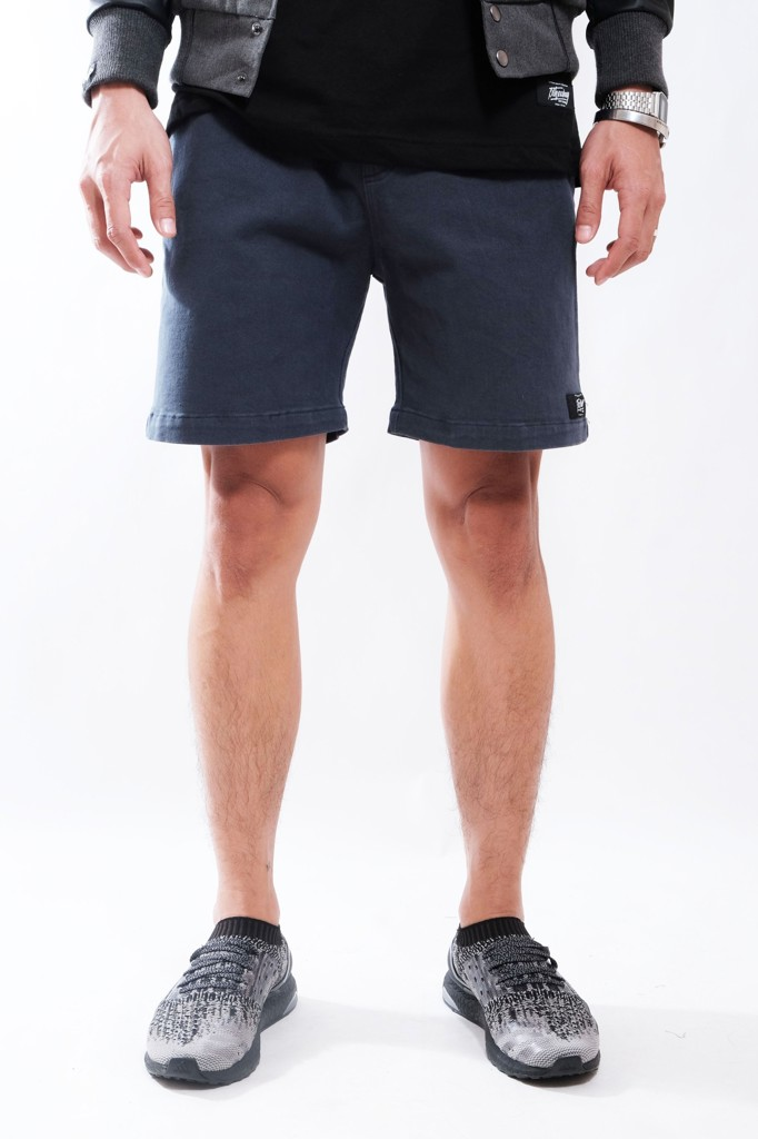 SLIM FIT SHORT KHAKI BROTHERHOOD - NAVI