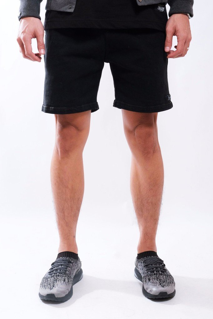 SLIM FIT SHORT KHAKI BROTHERHOOD - BLACK