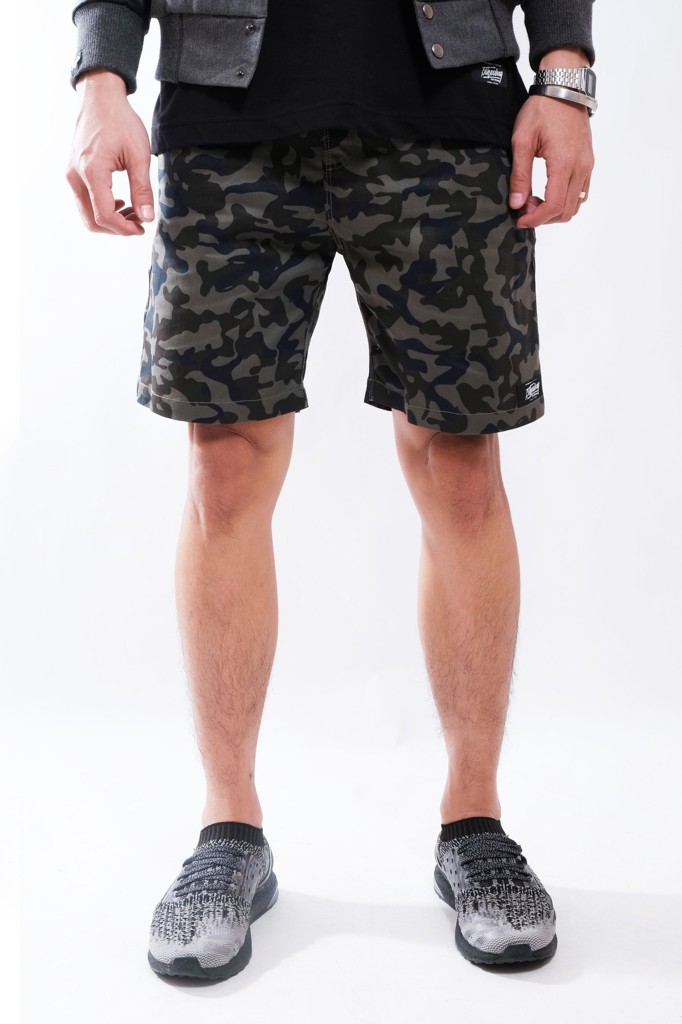 SLIM FIT SHORT KHAKI BROTHERHOOD - DARK CAMO