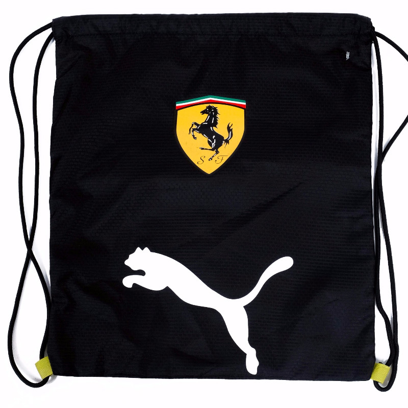 GYM SACK FERRARI RUNNING PUMA - BLACK / WHITE LOGO