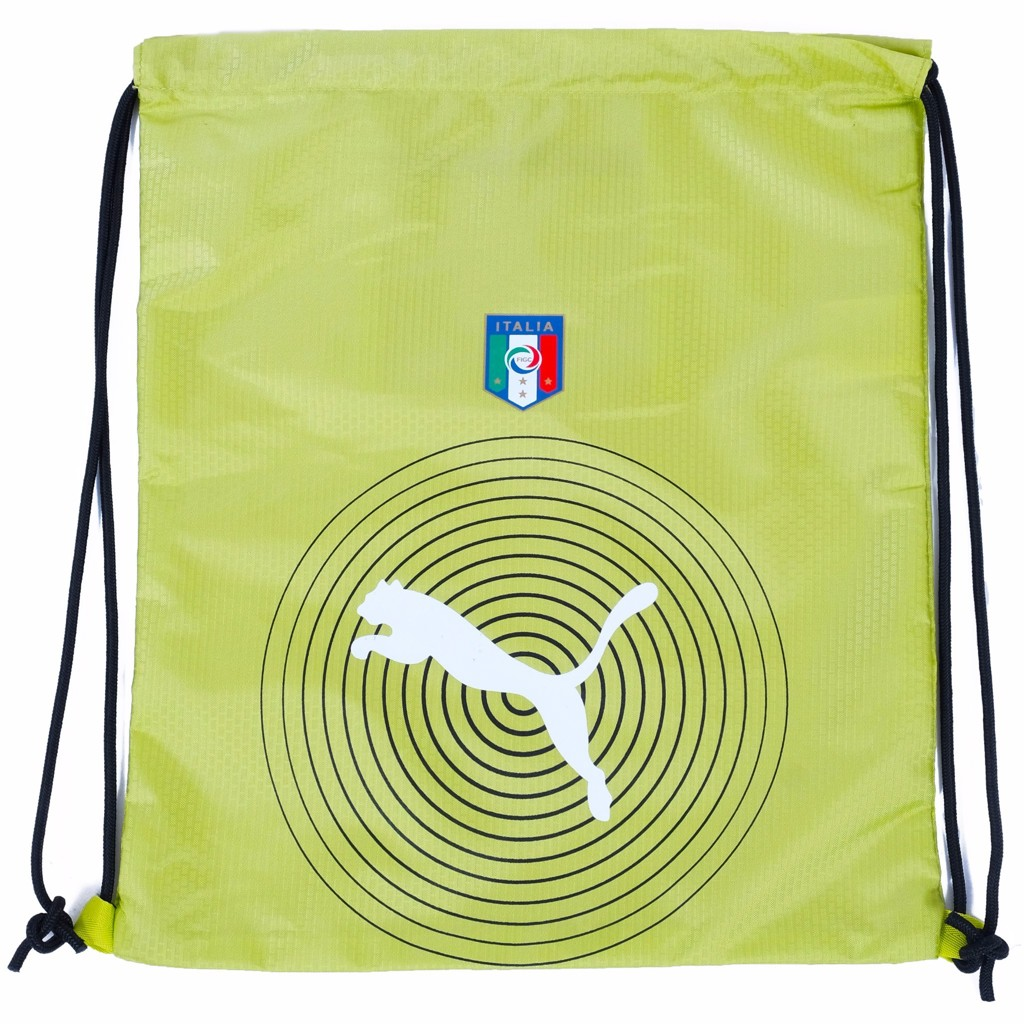 GYM SACK ITALIA RUNNING PUMA - YELLOW / WHITE LOGO