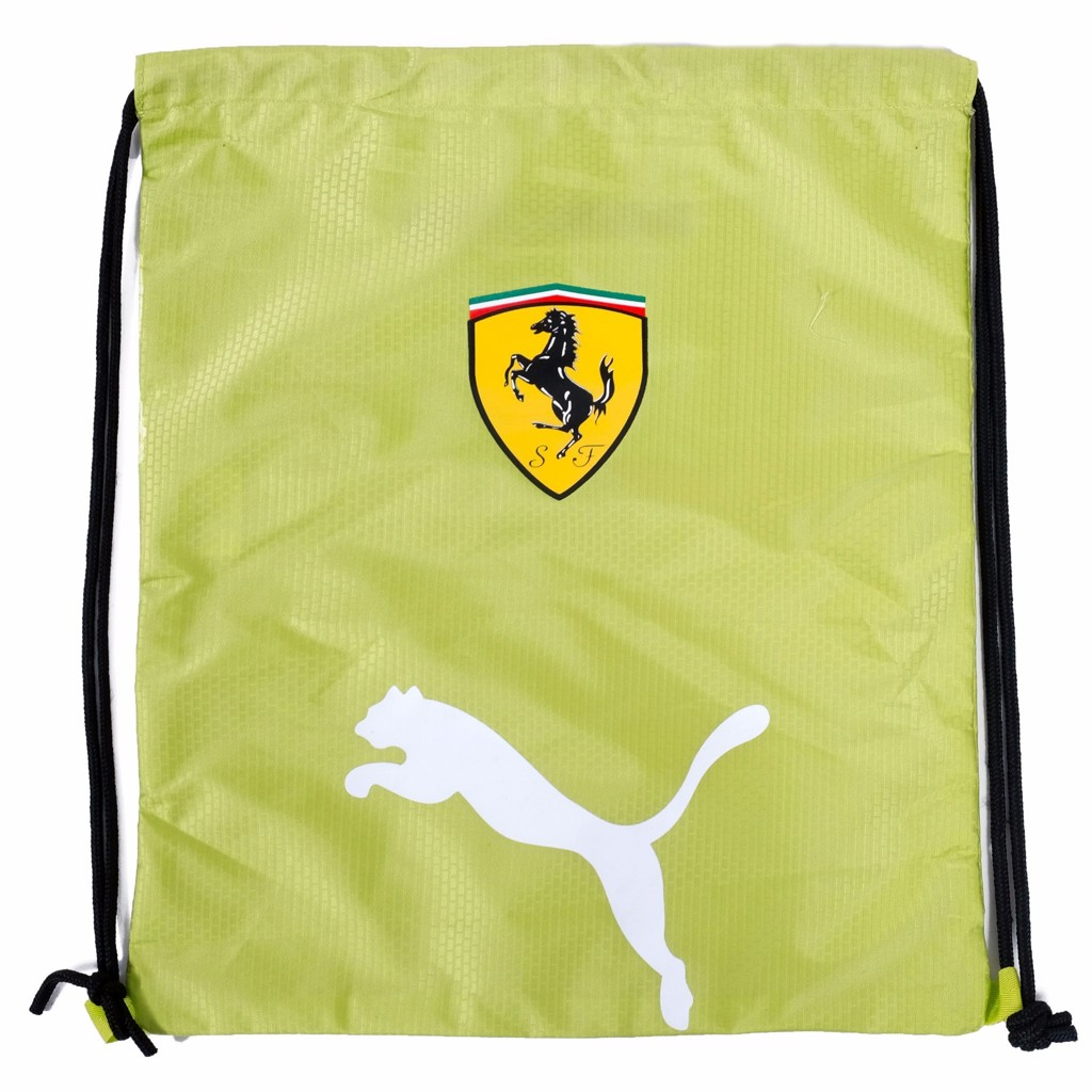 GYM SACK FERRARI RUNNING PUMA - YELLOW / WHITE LOGO