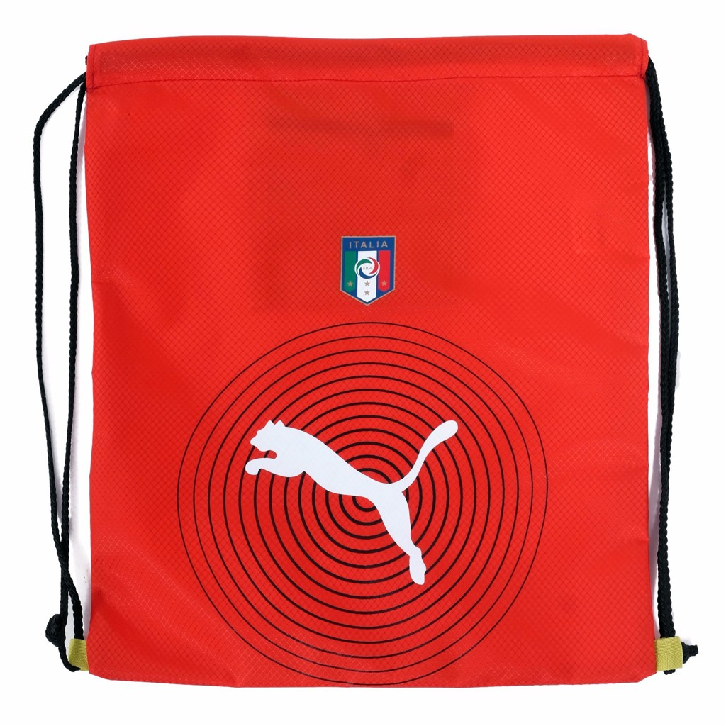 GYM SACK ITALIA RUNNING PUMA - RED / WHITE LOGO
