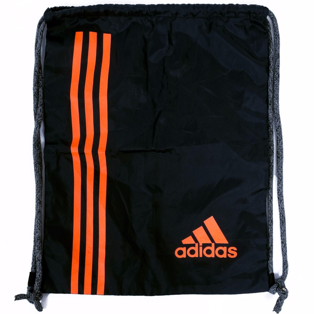 GYM SACK RUNNING ADIDAS - BLACK / ORANGE LOGO