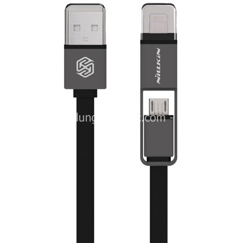 Cáp Nillkin Plus Cable 2 in 1, USB Micro & Lightning