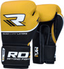 GĂNG TAY RDX QUAD-KORE LEATHER TRAINING GLOVES - BLUE