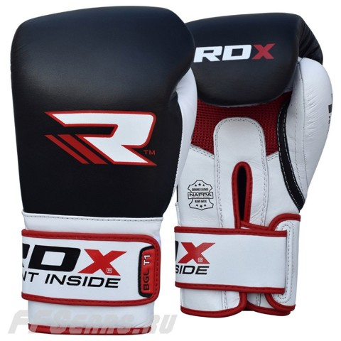 GĂNG TAY RDX LEATHER GEL TECH TRAINING BOXING GLOVES - BLACK