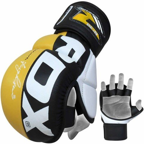 RDX Leather Power Fighter Training Gloves