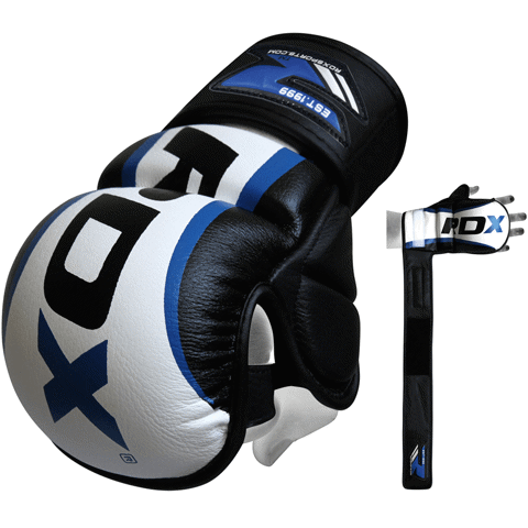 RDX Leather Gel MMA Grappling Gloves