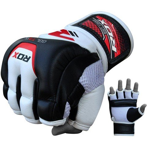 RDX Leather Gel Training Grappling Gloves