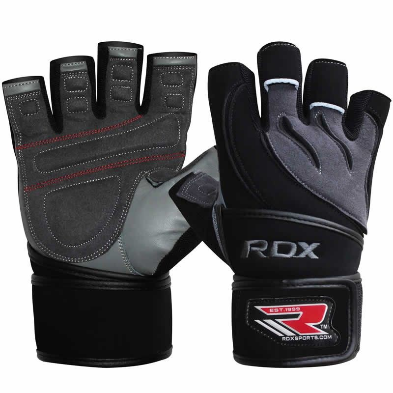 GĂNG TAY RDX LEATHER GYM WORKOUT WEIGHT LIFTING GLOVES