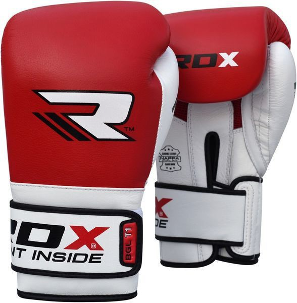 GĂNG TAY RDX LEATHER GEL TECH TRAINING BOXING GLOVES - RED