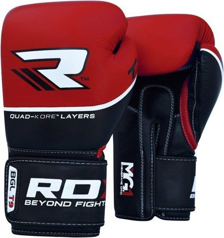 GĂNG TAY RDX QUAD-KORE LEATHER TRAINING GLOVES - RED