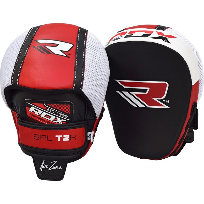 RDX MMA BOXING COWHIDE LEATHER FOCUS MITTS