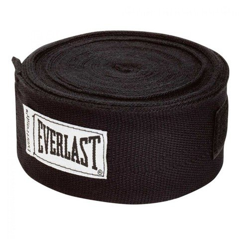 BĂNG QUẤN TAY EVERLAST PROFESSIONAL HAND WRAPS 180 BLACK - CO GIÃN