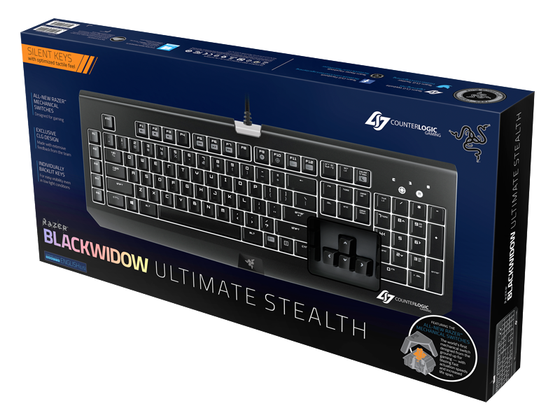 Razer Blackwidow Ultimate Stealth Counter Logic Gaming (CLG)